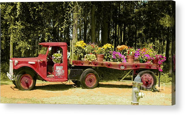 Truck Acrylic Print featuring the photograph Fredericksburg Texas by Terry Burgess