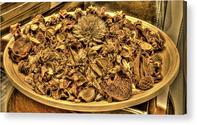 Hdr Acrylic Print featuring the photograph Hdr Petals by Andrea Barbieri