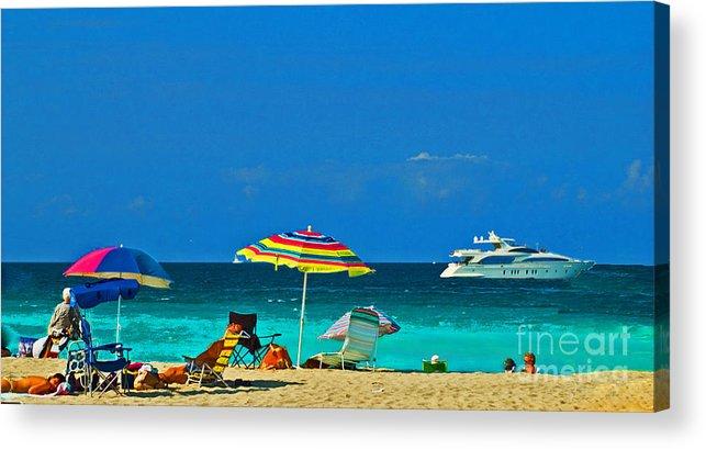 Hollywood Beach Acrylic Print featuring the photograph Hollywood Beach Florida by Allan Einhorn