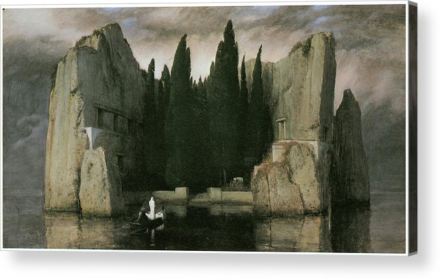 Arnold Bocklin Acrylic Print featuring the painting Island Of The Dead by Arnold Bocklin