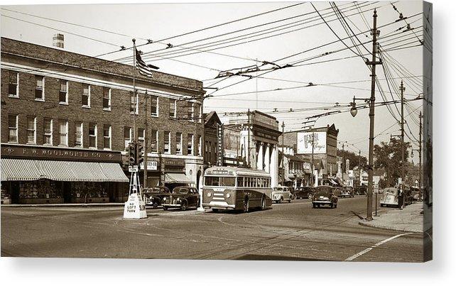 Kingston Corners Acrylic Print featuring the photograph Kingston Corners Kingston Pa Early 1950s by Arthur Miller