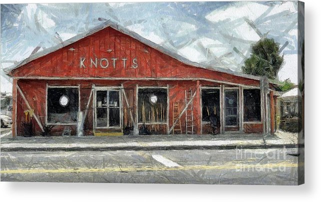 Hardware Acrylic Print featuring the painting Knott's Hardware by Murphy Elliott