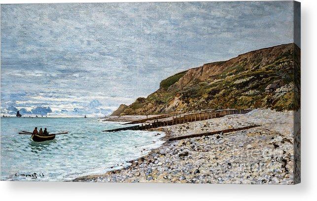 Claude Acrylic Print featuring the painting La Point De La Heve, Sainte Adresse by Claude Monet