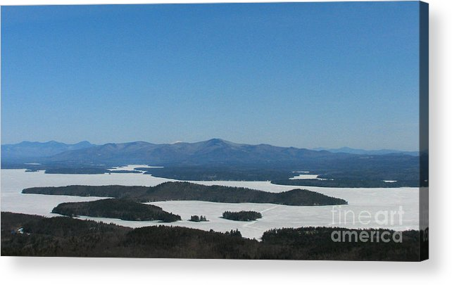 Lake Winnipesaukee Acrylic Print featuring the photograph Lake Winnipesaukee View From Mt. Major by Michael Mooney
