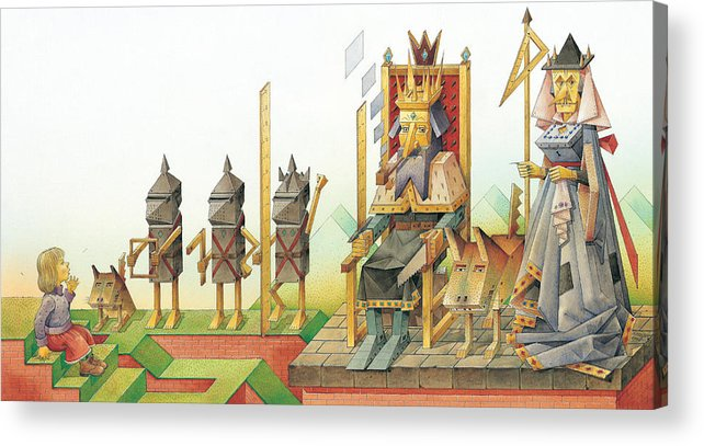 King Queen Acrylic Print featuring the painting Lisas Journey 07 by Kestutis Kasparavicius