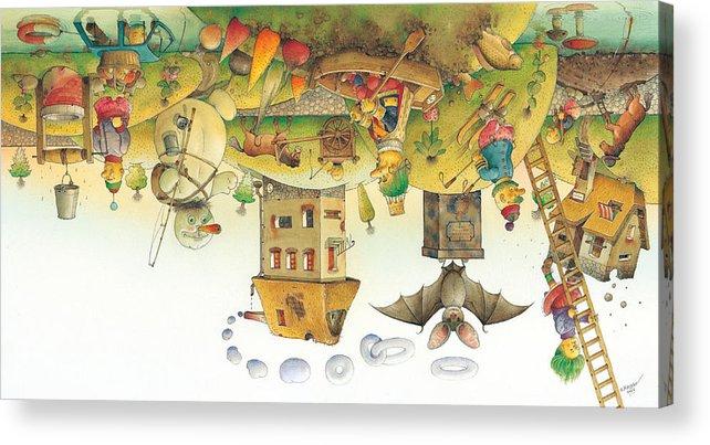 Dream Sleep Acrylic Print featuring the painting Lisas Journey12 by Kestutis Kasparavicius