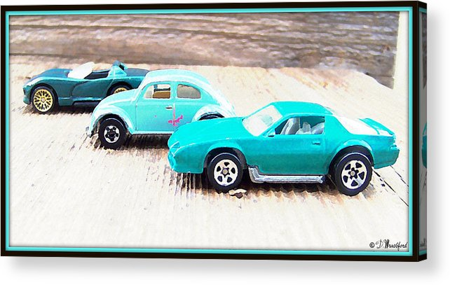 Cars Acrylic Print featuring the photograph Matchbox Cars by Donna Wrachford