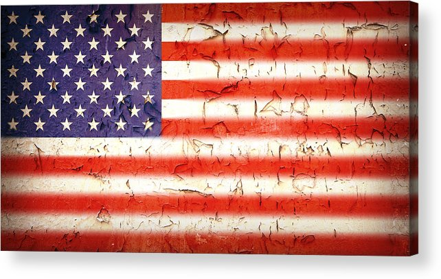 4th Acrylic Print featuring the photograph Vintage Stars And Stripes by Jane Rix