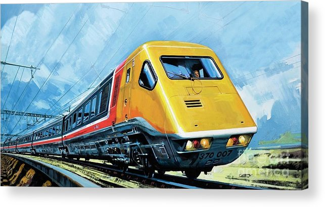Train Acrylic Print featuring the painting Intercity 125 by Harry Green