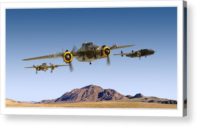 B-25 Mitchell Bomber Framed Prints Acrylic Print featuring the photograph B-25 Mitchell Bomber by Larry McManus