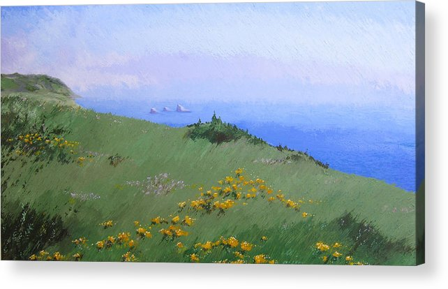 Landscape Acrylic Print featuring the painting Big Sur by Hunter Jay