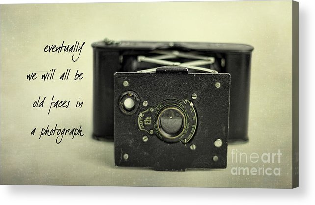Vintage Acrylic Print featuring the photograph Eventually... by K Hines