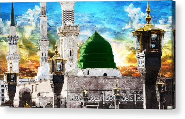Islamic Acrylic Print featuring the painting Islamic Painting 004 by Catf