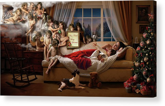 Angels Acrylic Print featuring the photograph Mummy Look!!! by Ddiarte