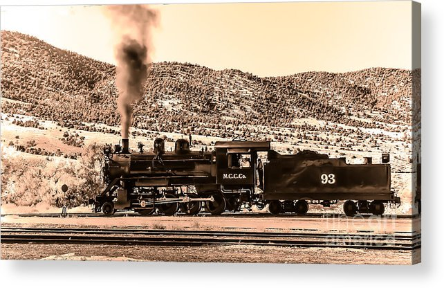 Train Acrylic Print featuring the photograph Nevada Northern Railway by Robert Bales