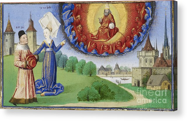 Boethius Acrylic Print featuring the photograph Philosophy Instructs Boethius On God by Getty Research Institute