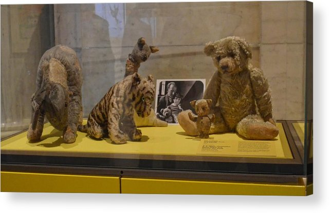 Pooh Acrylic Print featuring the photograph Pooh And Friends by Philip Ralley
