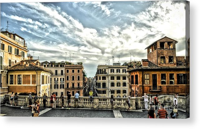 Spanish Steps Acrylic Print featuring the photograph Spanish Steps by Allen Hall