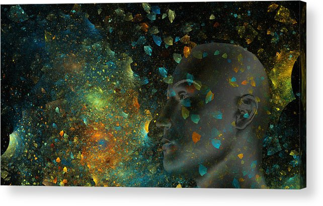 Fractal Acrylic Print featuring the digital art Universal Mind by Betsy Knapp
