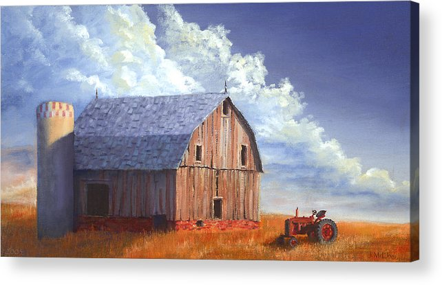 Tractor Acrylic Print featuring the painting Way Out West by Jerry McElroy