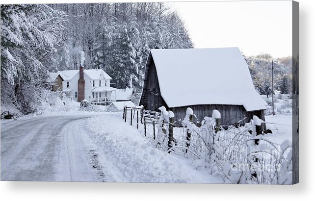 Virginia Acrylic Print featuring the photograph Winter In Virginia by Benanne Stiens