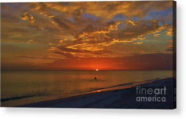 Anna Maria Island Acrylic Print featuring the photograph Sunset Ami by Wendy Ohlman