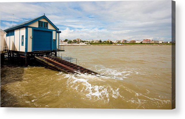 Beach Acrylic Print featuring the photograph Clacton Lifeboat House by Dawn OConnor