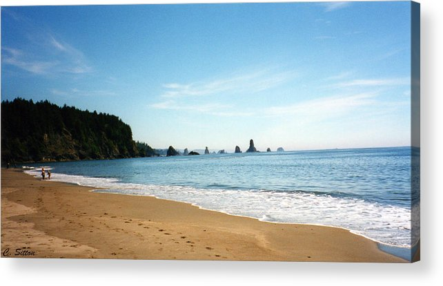 Coast Photographs Acrylic Print featuring the photograph Day At The Beach by C Sitton