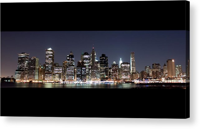 Nyc Acrylic Print featuring the photograph Downtown Nyc by Tolga Cetin