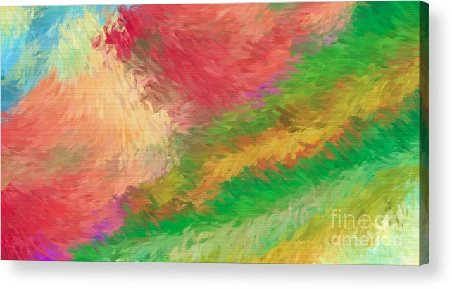 Abstract Acrylic Print featuring the digital art The Journey by Deborah Benoit