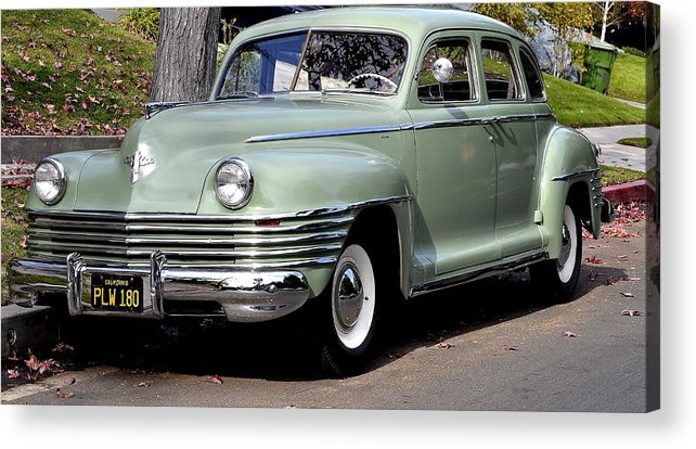 Vintage Chrysler Automobile Acrylic Print featuring the photograph Those Were They Days by Fraida Gutovich