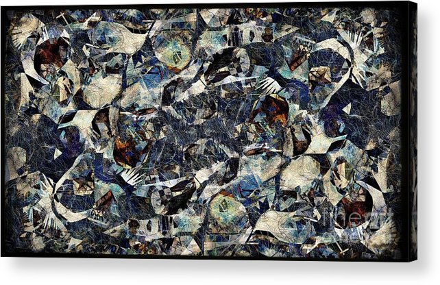 Abstraction Acrylic Print featuring the digital art Abstraction 2326 by Marek Lutek