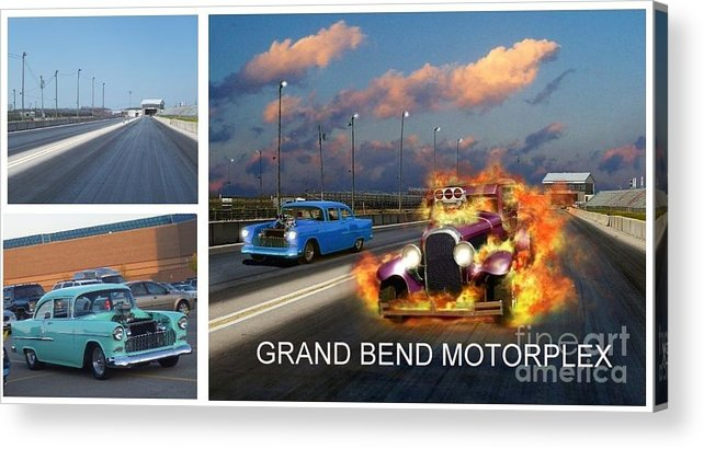 Grand Bend Acrylic Print featuring the photograph Making The Motorplex by Tom Straub
