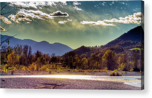 Hdr Acrylic Print featuring the photograph Painted Sky by Andrea Barbieri