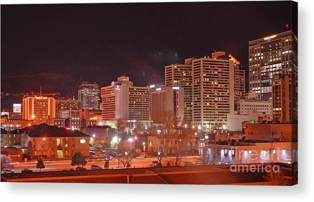 Salt Lake City Acrylic Print featuring the photograph Salt Lake City Utah by Dennis Hammer
