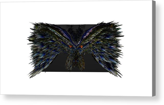 Digital Art Acrylic Print featuring the photograph The Bird by Andy Klamar