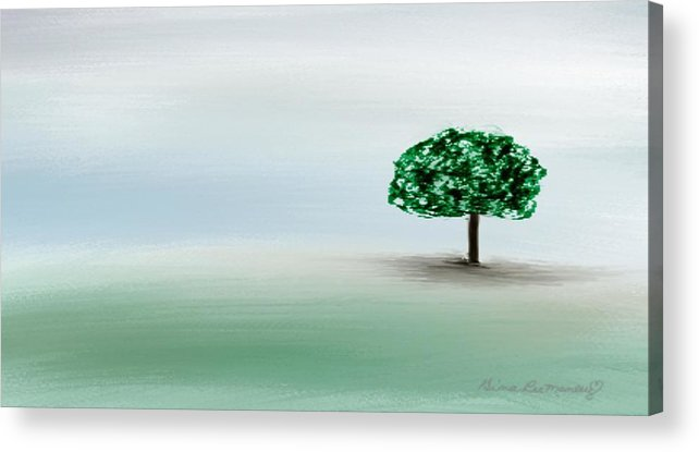 Custom Acrylic Print featuring the painting The Lone Tree by Gina Lee Manley