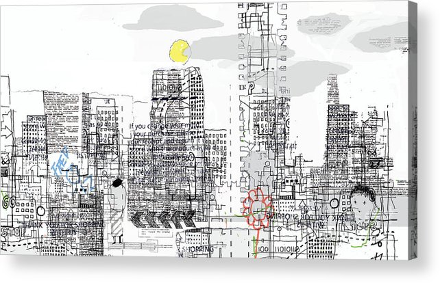 Line Acrylic Print featuring the digital art White City by Andy Mercer
