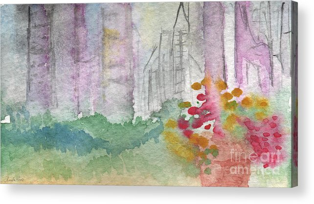 Garden Acrylic Print featuring the painting Central Park by Linda Woods
