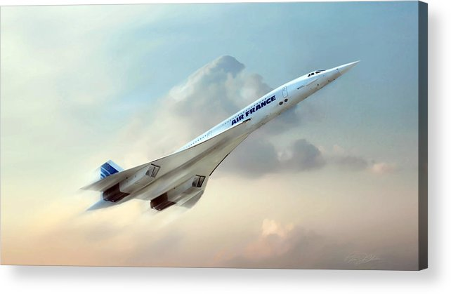 Concorde Acrylic Print featuring the digital art Days Of Future Passed by Peter Chilelli