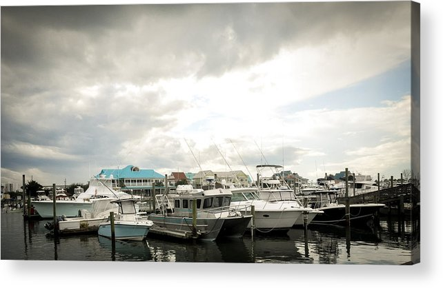 Boats Acrylic Print featuring the photograph Docked by Shelly Morrow