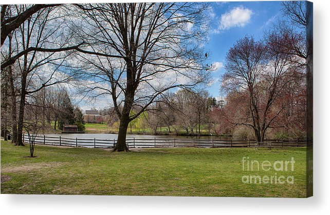 Haverford College Acrylic Print featuring the photograph Duck Pond Haverford College by Kay Pickens