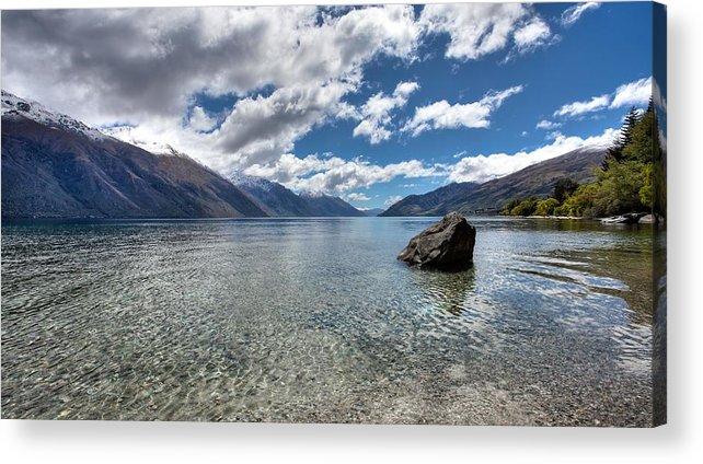 New Zealand Acrylic Print featuring the photograph Lake Wakatipu by Shari Mattox