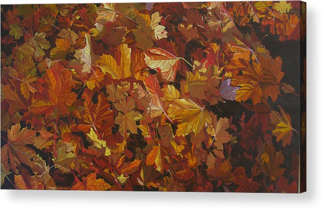 Fall Acrylic Print featuring the painting Last Fall In Monroe by Thu Nguyen