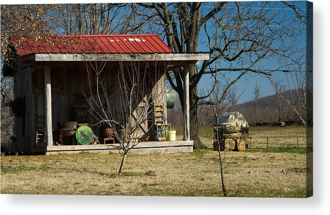 Mountain Acrylic Print featuring the photograph Mountain Cabin In Tennessee 1 by Douglas Barnett