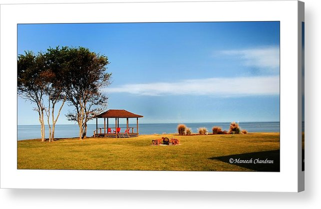 'private Acrylic Print featuring the photograph Private Beach by Maneesh Chandran