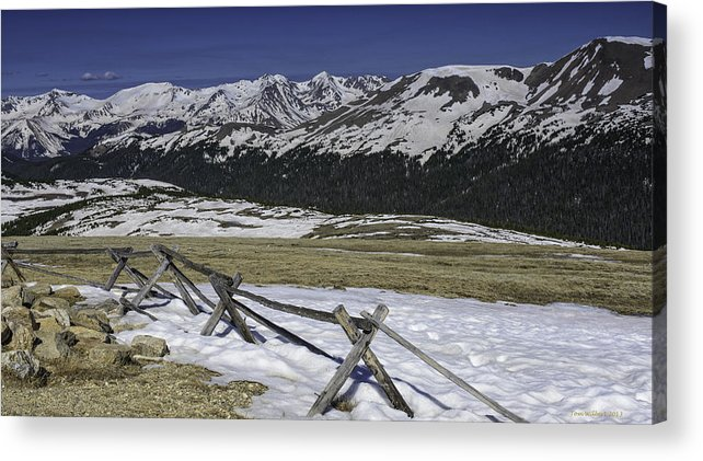 Landscape Acrylic Print featuring the photograph Rocky Mountain Gorge by Tom Wilbert