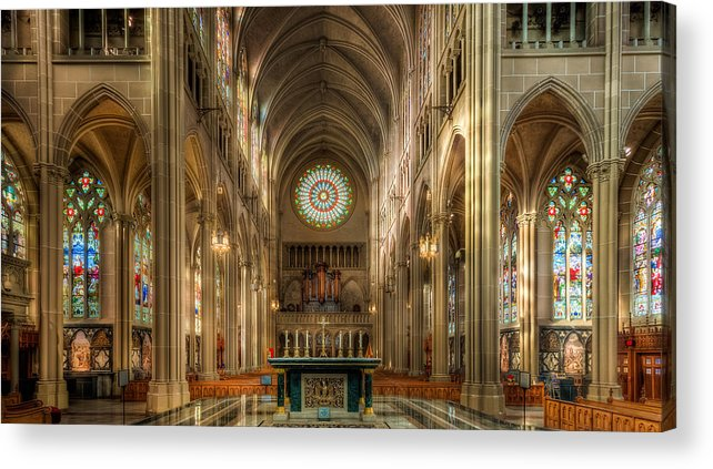 St. Mary Cathedral Basilica Of The Assumption Acrylic Print featuring the photograph St. Mary Cathedral Basilica Of The Assumption by Keith Allen