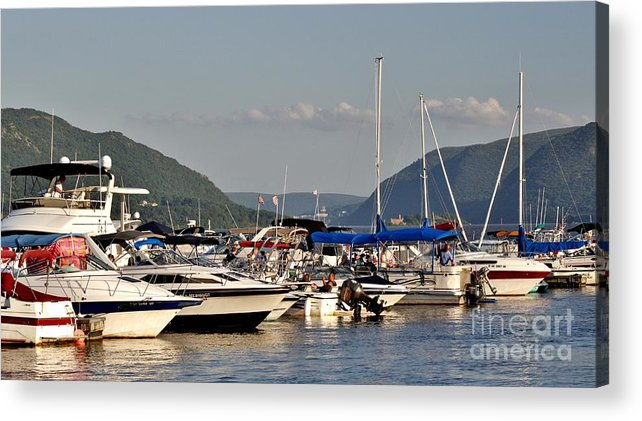 Acrylic Print featuring the photograph The Newburgh Water Front 2 by Chet B Simpson