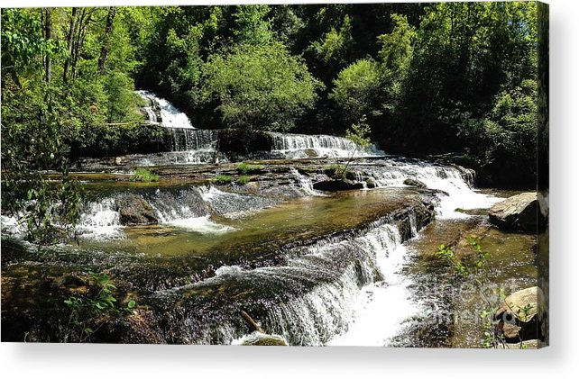 Water Acrylic Print featuring the photograph Water On The Rocks by Mike Hutchinson